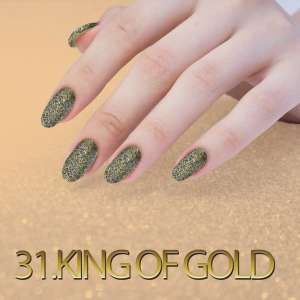 Sequin Quartz Effect - King of Gold - 31
