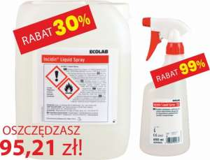 Incidin Liquid Spray Ecolab - 5 l + 650 ml GRATIS