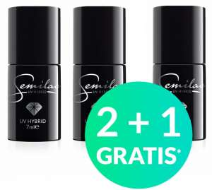 2 + 1 GRATIS - Lakier Hybrydowy - Semilac - Bussiness Line - Thermal - Celebrate - America Go! - 7 ml