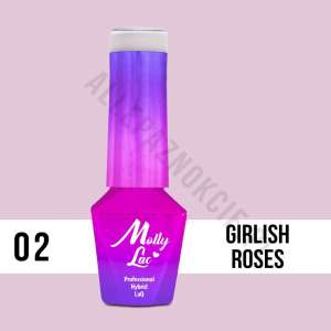 Lakier Hybrydowy - Girlish Roses 2 - Glamour Women - Molly Lac - 5 ml