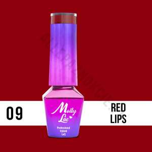 Lakier Hybrydowy - Red Lips 9 - Glamour Women - Molly Lac - 5 ml