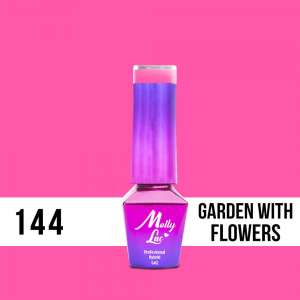 Lakier Hybrydowy - Garden with Flowers 144 - Flamingo - Molly Lac - 5 ml