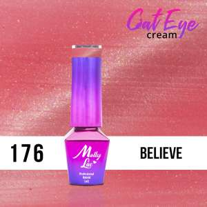Lakier Hybrydowy - Believe 176 - Cat Eye Cream - Molly Lac - 5 ml
