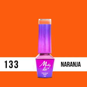 Lakier Hybrydowy - Naranja 133 - Bubble Tea - Molly Lac - 5 ml