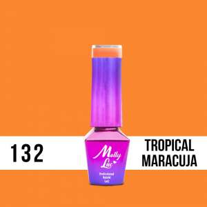 Lakier Hybrydowy - Tropical Maracuja 132 - Bubble Tea - Molly Lac - 5 ml