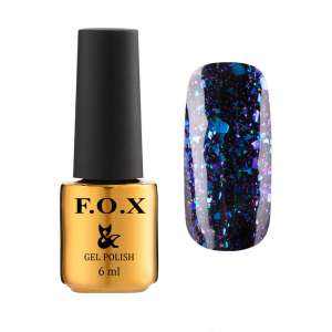 Lakier Hybrydowy - Yuki Flakes 001 - F.O.X Nails Professional - 6 ml