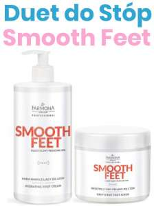 DUET do Stóp - Peeling + Krem Nawilżający - SMOOTH FEET - Farmona Professional