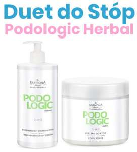 DUET do Stóp - Peeling + Krem Regenerujący - PODOLOGIC HERBAL - Farmona Professional