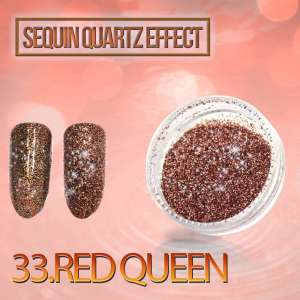 Sequin Quartz Effect - Red Queen - 33