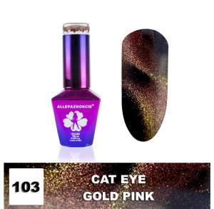 Lakier Hybrydowy - Gold Pink 103 - CAT EYE - Colours by Molly - 10 ml