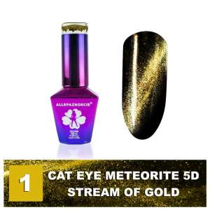 Lakier Hybrydowy - Colours by Molly - Cat Eye Meteorite 5D - 1 Stream of Gold - 10ml